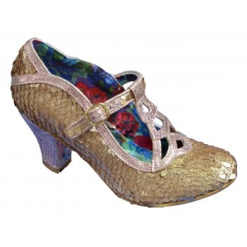 Irregular Choice Nicely Done Gold / Pink (P10) 4255-05AG Ladies Heels