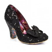 Irregular Choice Nick Of Time Black Lace (A2) 4135-14H Ladies Heels