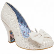 Irregular Choice Nick Of Time Cream Glitter (N14) 4135-14F Ladies Heels