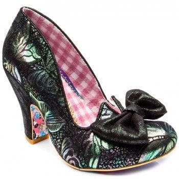 Irregular Choice Nick Of Time Green Floral (N42) 4135-14BR Ladies Heels