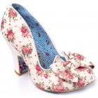 Irregular Choice Nick Of Time White Floral (E3) 4135-14BI Ladies Heels