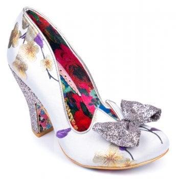 Irregular Choice Nick Of Time White/Purple/Yellow (N22) 4135-14BC Ladies Heels