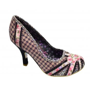 Irregular Choice Patty Navy / Cream Tweed (N200) 3614-14V Ladies Heels