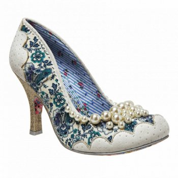 Irregular Choice Pearly Girly White (B11) 3614-48D Ladies Heels