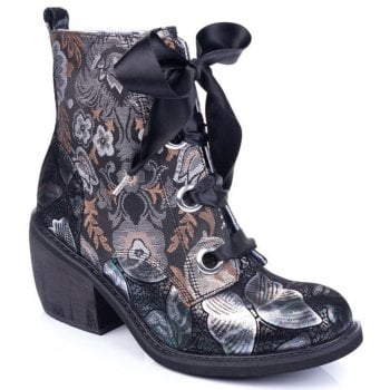 Irregular Choice Quick Getaway (N107) Black / Bronze / Silver 4349-02P Ladies Boots