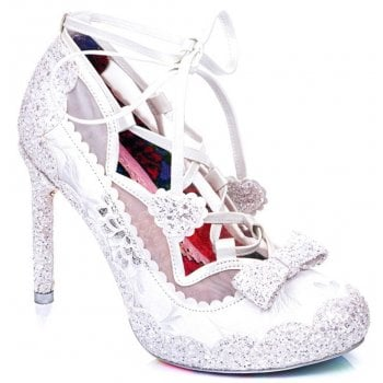Irregular Choice Velvet Rope White (N38) 4557-01A Ladies Heels