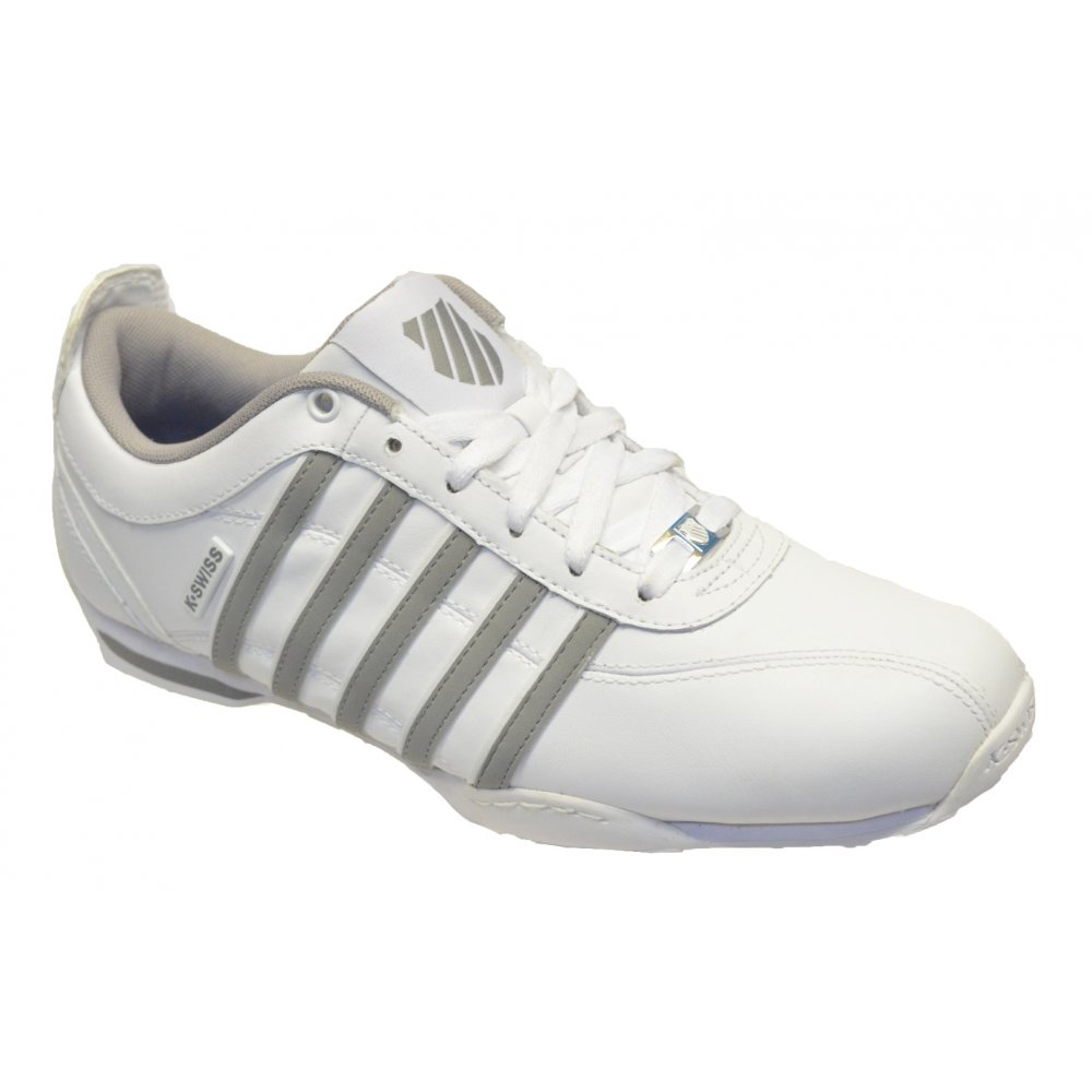 k swiss k swiss arvee 1 5 white natural gray gd2 02453192 men 39 s trainers k swiss from pure. Black Bedroom Furniture Sets. Home Design Ideas