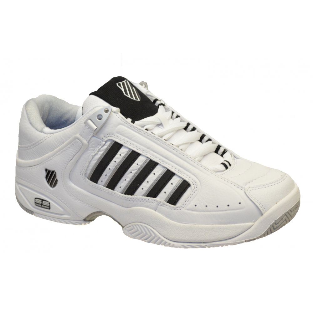 K-Swiss K Swiss Defier RS White   Black (F12) 01033103 Mens Tennis Trainer ac56e65eec