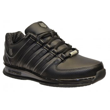 K-Swiss K Swiss Rinzler SP Leather Black / Charcoal (N91) 02283-006 Mens Trainers