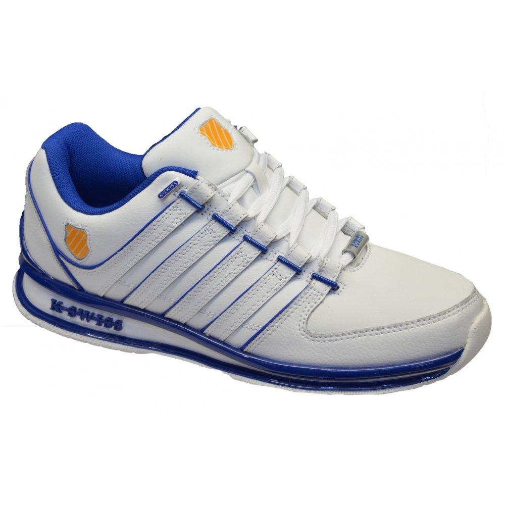10d63f819269f K-Swiss K Swiss Rinzler SP Leather White / Blue (N17b) 02283122 Mens  Trainers