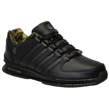 K-Swiss K Swiss Rinzler SP Leather Black / Gunmetal (N61) 02283-095 Mens Trainers