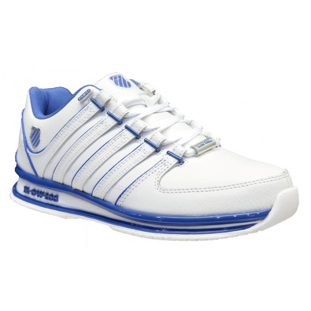 e473a372526c5 K-Swiss K Swiss Rinzler SP Leather White / Brunner Blue (Z12) 02283-158  Mens Trainers