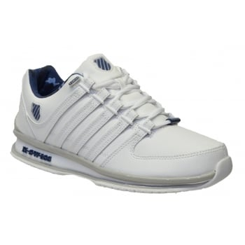 K-Swiss K Swiss Rinzler SP Leather White / Ensign Blue (N74) 02283-157 Mens Trainers
