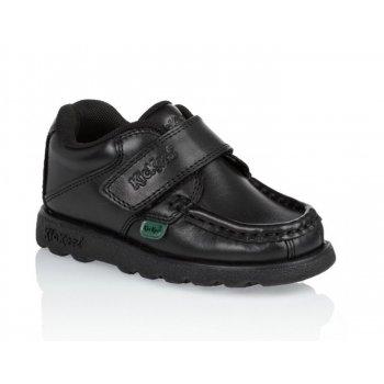 Kickers Fragma Strap (SC-d2) 1-12289 Black Infants School Shoes