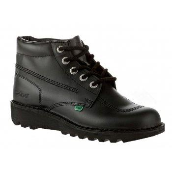 Kickers Kick Hi Ladies Leather Black Boots (N17b) KF0000120-BTW