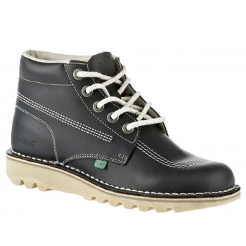 Kickers Kick Hi Ladies Leather Navy Boots (N23) KF0000120-NDA
