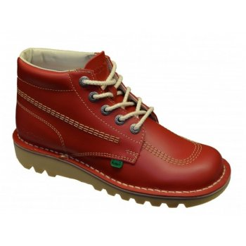 Kickers Kick Hi Ladies Leather Red Boots (F7) KF0000120-RCO