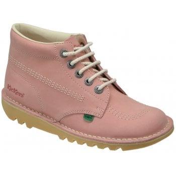 Kickers Kick Hi Light Pink Youth Boots (A10) 1-16197