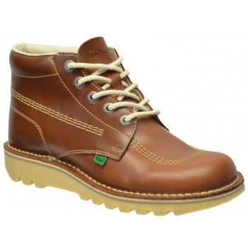 Kickers Kick Hi M Core Leather AM Dark Tan (A10 / Z102) 1-11694 Mens Boots