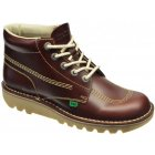 Kickers Kick Hi M Core Leather Dark Red (Z3) 1-11789 Mens Boots