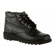 Kickers Kick Hi W Core Leather Black (N17b) KF0000120-BTW Ladies Boots