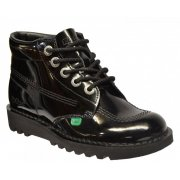 Kickers Kick Hi W Core Patent Black (N11) Ladies Boots