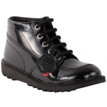 Kickers Kick Hi Youth Patent Black (SC-C1/Z159) KF0000579-BXW School Boots