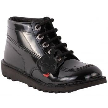 Kickers Kick Hi Youth Patent Black (Z159) KF0000579-BXW School Boots