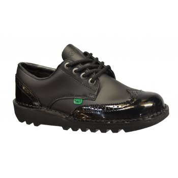 Kickers Kick Lo Brogue Leather Black (N79) 1-10689 Ladies Shoes
