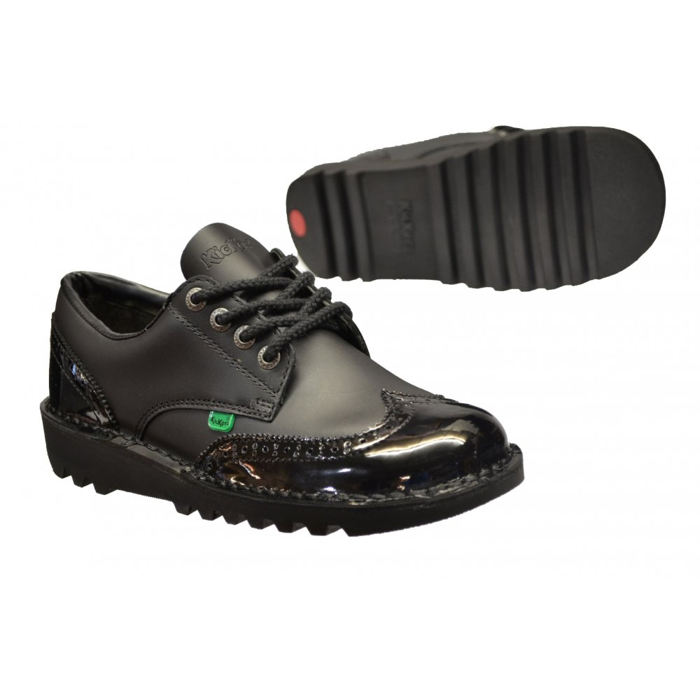 Kickers Kickers Kick Lo Brogue Leather Black (N79) 1-10689 ...