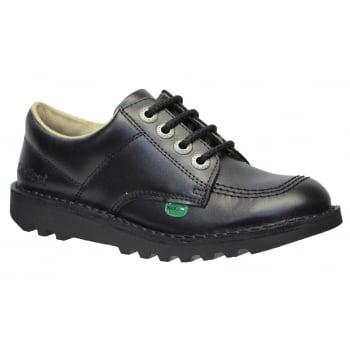 Kickers Kick Lo Juniors Black School Shoes (N106) KF0000439-BTW