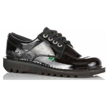 Kickers Kick Lo Ladies Patent Black Shoes (B22) 1-10688