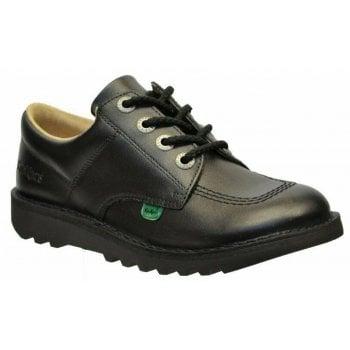 Kickers Kickers Kick Lo Y Core Leather Black (Z-C) KF0001003-BTW Youths Shoes