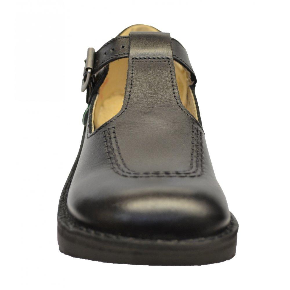 Kickers Kick T J Core Black Leather Shoes