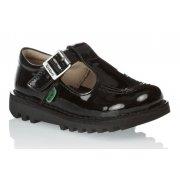 Kicker Kick IF Infants Girls T Patent Black (Z17) 1-12531 School Shoes