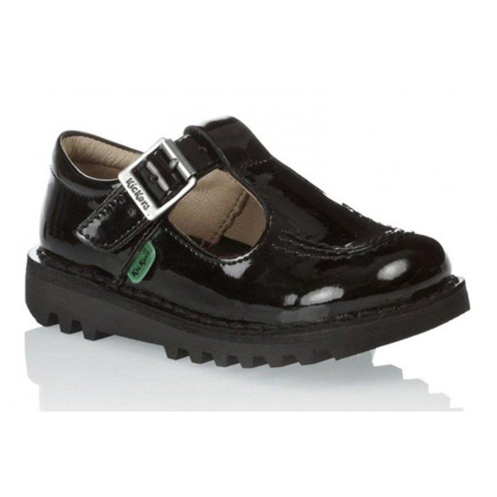 Kickers Kicker Kick IF Infants Girls T Patent Black (Z17/ F12) 1-12531 School Shoes ...