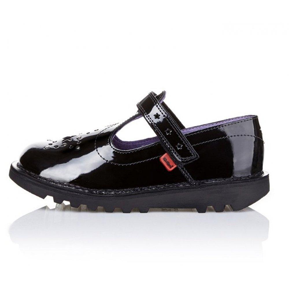 Kickers Kickers Junior Girls T Star Patent Black (N200) 1-12842 School Shoes - Kickers ...