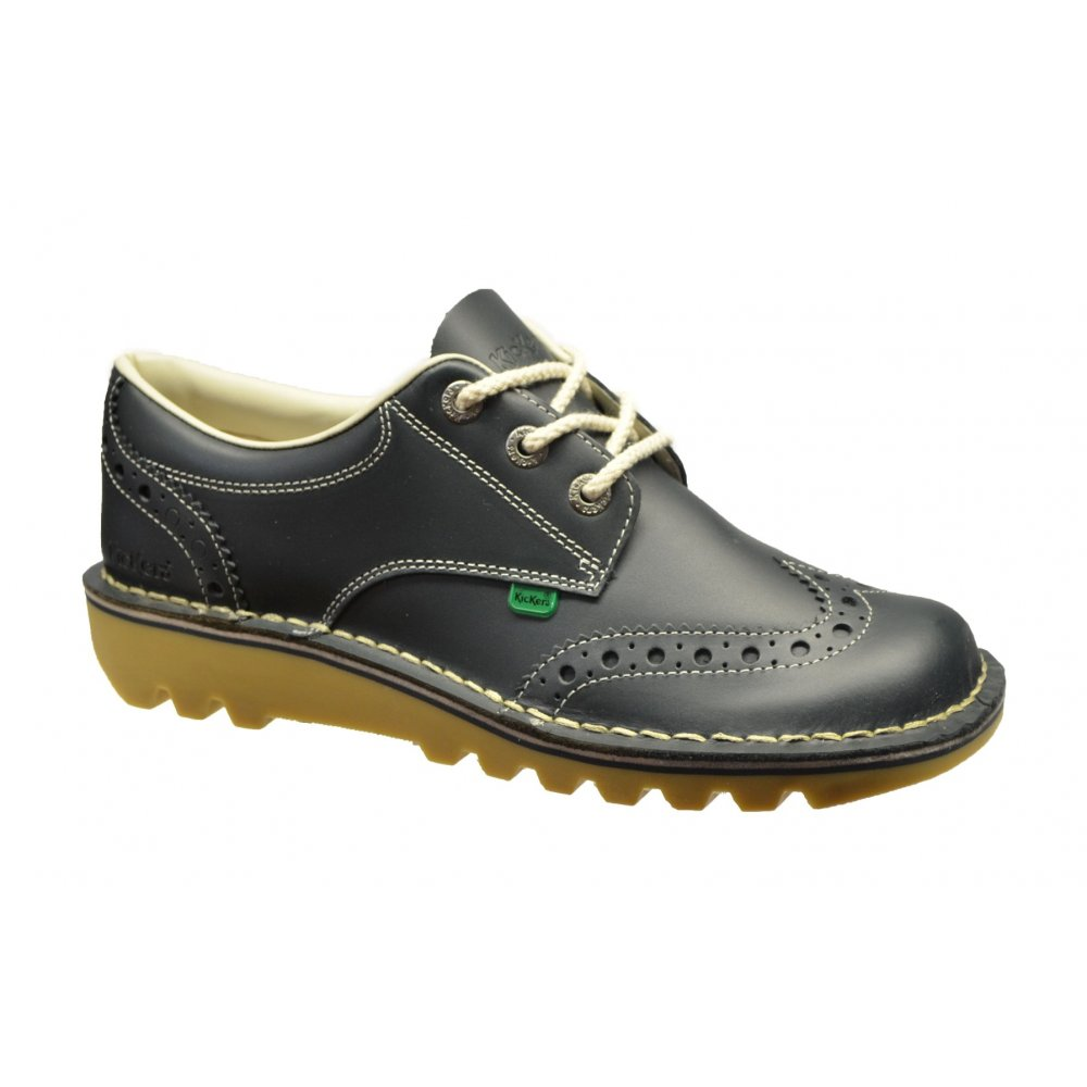 Kickers Kickers Kick Lo Brogue Leather Blue (N3) 1-12359 ...