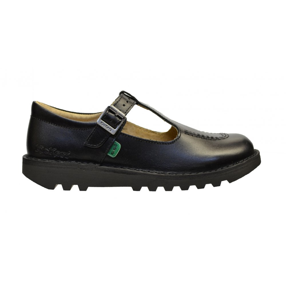 kickers kickers kick t j leather black n53