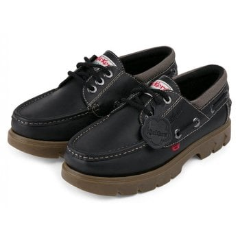 Kickers Mens Black / Natural Lennon Boat Shoe (F12) 1-15766 All Sizes