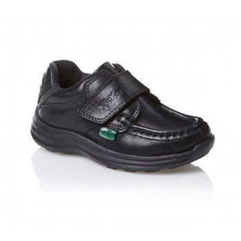 Kickers Reasan Strap Infants Black (B18) 1-12833 School Shoes