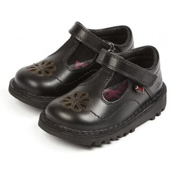 Kickers T Flutter Black (GD1) 1-14122 Back to School Infants Shoes
