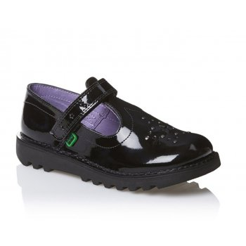 Kickers Youths Girls T Star Patent Black (SC-A1) 1-12843 School Shoes