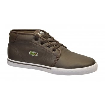 Lacoste Ampthill LCR SPM Dark Brown (N90) Mens Leather Trainers