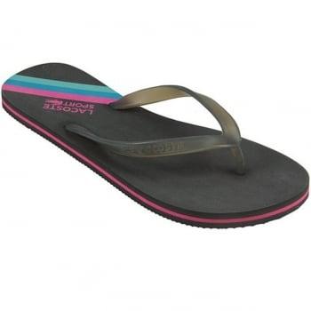 Lacoste Ancelle JAW SPW Dk Grey / Dark Pink (UX1) Ladies Flip Flop