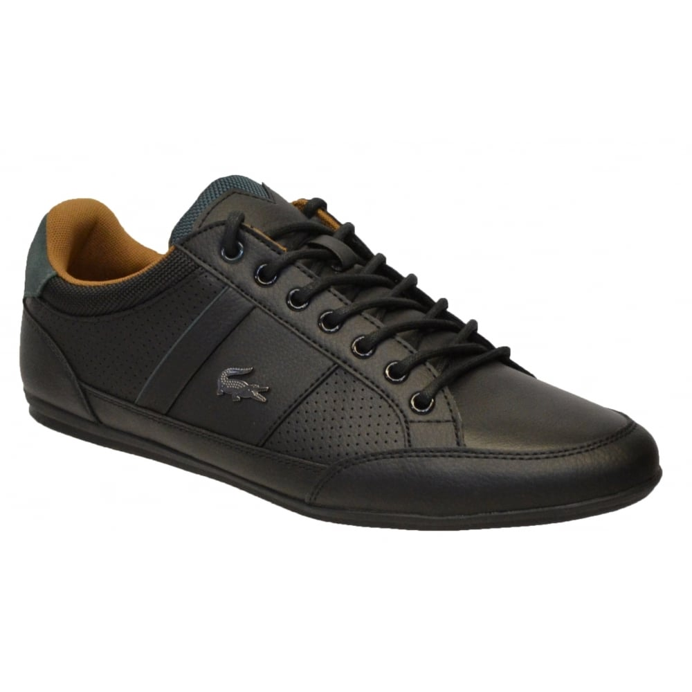 6573773392cc Lacoste Chaymon 317 1 CAM Leather Black   Tan (F7) 7-34CAM0006-315 Mens  Trainers