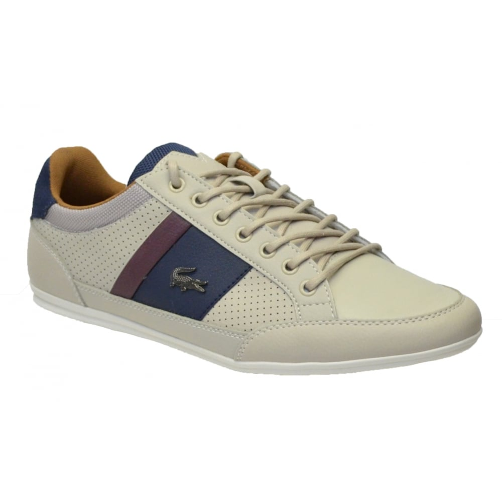 Lacoste Chaymon 317 1 CAM Leather Off White / Navy (N102) 7-34CAM0036 ...