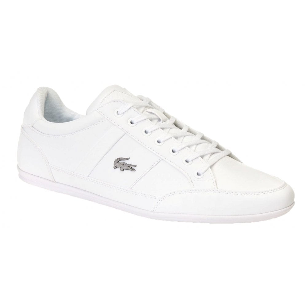 9e06f74784ce Lacoste Chaymon BL 1 CMA Synthetic   Leather White (N38) 7-37CMA009421G  Mens Trainers