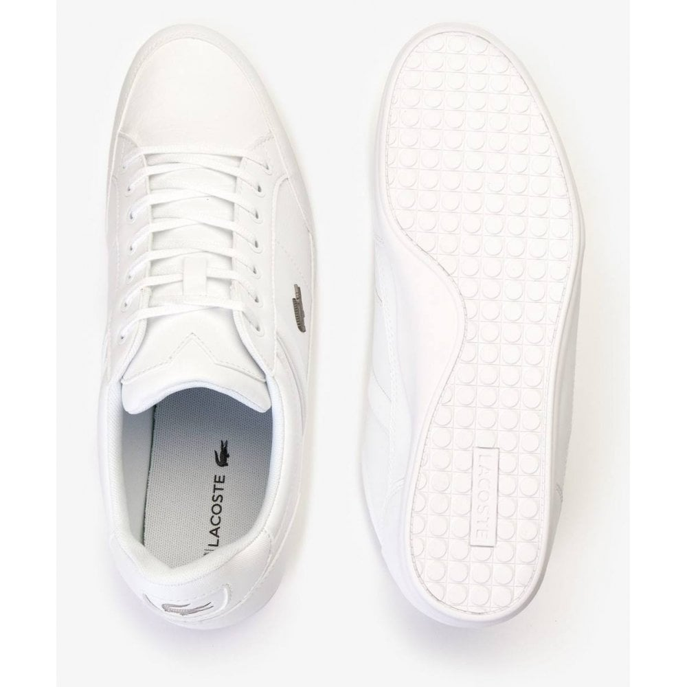 d74710aa5e2a ... Lacoste Chaymon BL 1 CMA Synthetic   Leather White (N38) 7-37CMA009421G  Mens ...