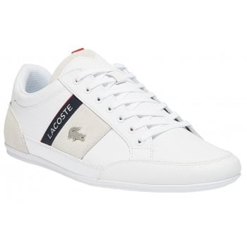 Lacoste Chaymon Leather / Synthetic White / Nvy (F9) 7-41CMA0048042 Mens Trainers
